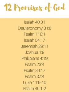 12 promises scriptures list